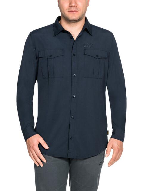 Jack Wolfskin Atacama Roll-Up - T-shirt manches longues Homme - bleu